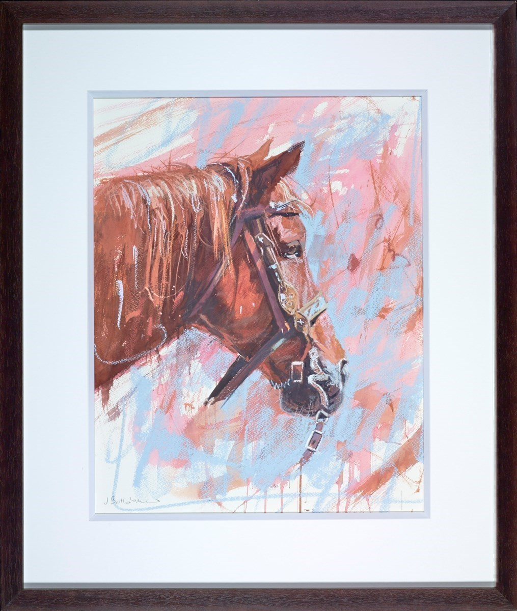 Ranch Horse Profile by James Bartholomew -  sized 20x25 inches. Available from Whitewall Galleries